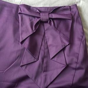 H&M Purple Satin Bow Skirt